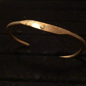 "Other - Men's Handmade Metal Bracelet Initial J 8.25"""